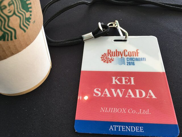 my RubyConf 2016 badge